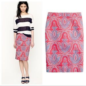 J. Crew No. 2 pencil skirt in raj paisley 8